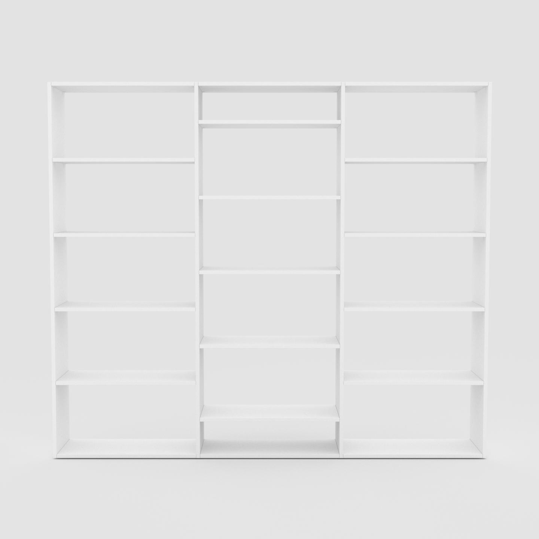 Bücherregale in Weiß selbst designen   Regale bei MYCS