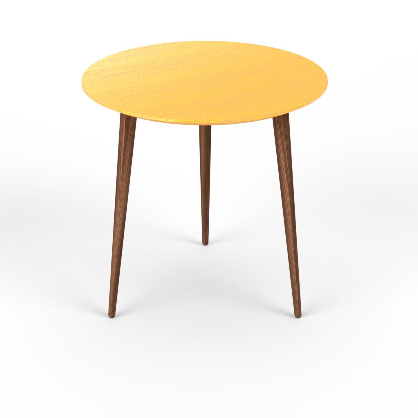 Table basse - jaune ronde design scandinave petite table pour salon ...