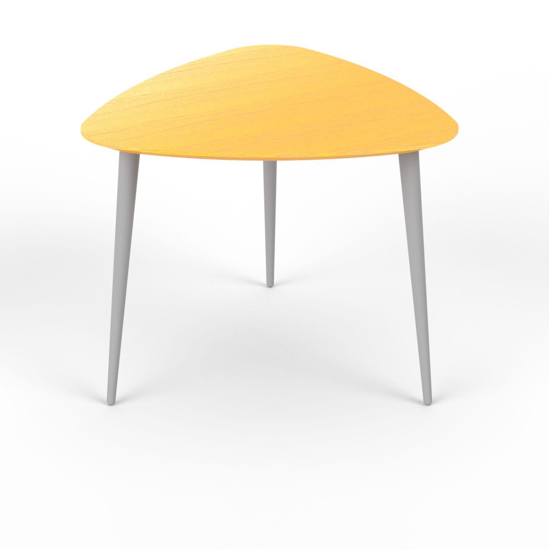 Table basse - jaune triangulaire design scandinave petite table pour ...