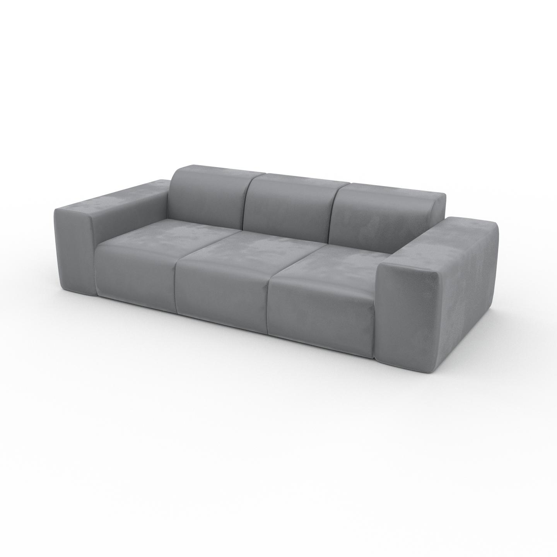 Sofa Samt Sandgrau - Moderne Designer-Couch: Hochwertige ...
