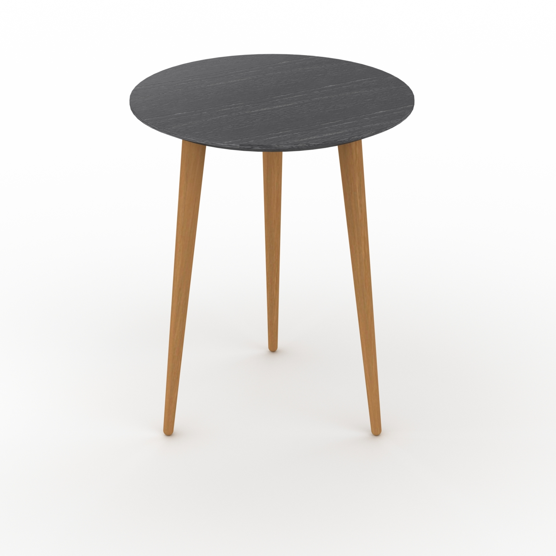 Table basse - Noir, ronde, design scandinave, petite table pour salon... par LeGuide.com Publicité