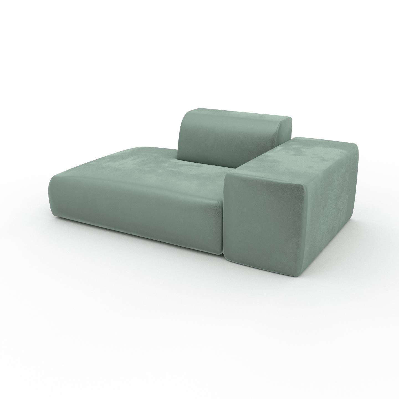 Sofa Samt Eisblau - Moderne Designer-Couch: Hochwertige ...